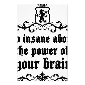 Go Insane About The Power Of Your Brain Stationery