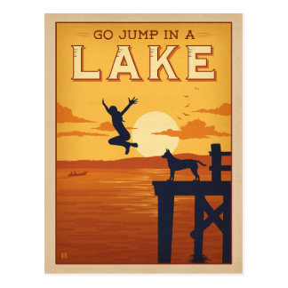 Go Jump in a Lake Postcard