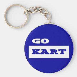 Go Kart Basic Round Button Keychain