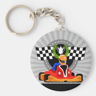 Go Kart button Key ring birthday favor gift