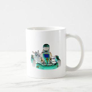 Go Kart Racer Inverted Color Coffee Mug