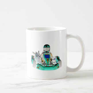 Go Kart Racer Inverted Colour Coffee Mug