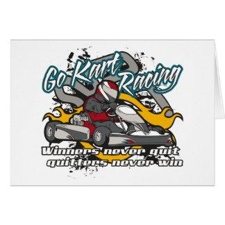 Go Kart Winners Card