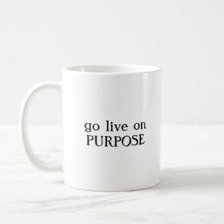 go live on purpose coffee mug