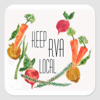 Go Local-RVA Square Sticker