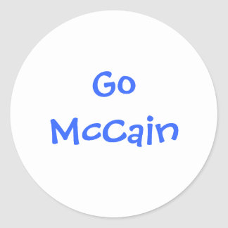Go McCain Round Sticker