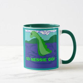 Go Nessie Go saying mug