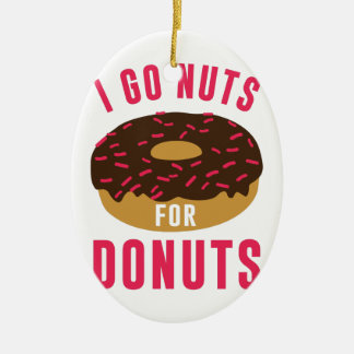 Go Nuts For Donuts Ceramic Oval Ornament