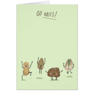 Go Nuts! Greetings Card
