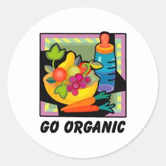 Go Organic Classic Round Sticker