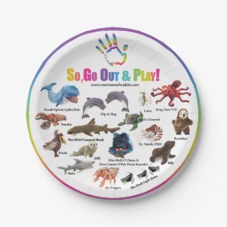 Go, Out and Play Paper Plate