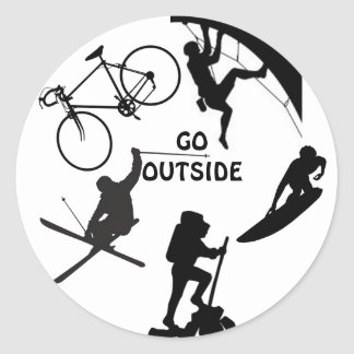 Go Outside Classic Round Sticker