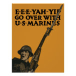 Go Over With US Marines -- WWI Poster