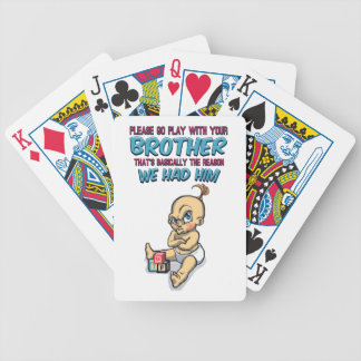 Go Play With Your Brother - Perfect Parenting Bicycle Playing Cards