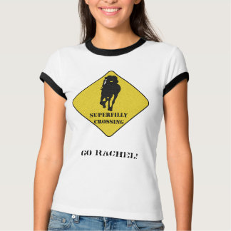 Go Rachel Alexandra - Superfilly Crossing T-Shirt