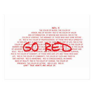 GO RED- Prevent Cardiovascular Disease Postcard