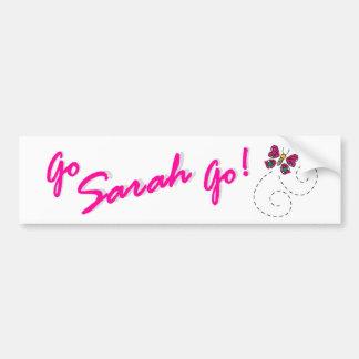 Go Sarah Go! Butterfly Bumper Sticker