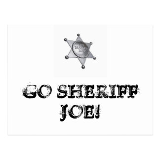 Go Sheriff Joe! Postcard