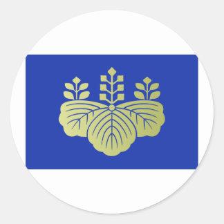 Go shichi no kiri crest 2, Japan Classic Round Sticker