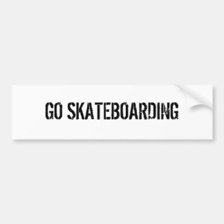 GO SKATEBOARDING BUMPER STICKER