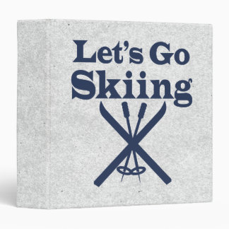 Go Skiing Binder