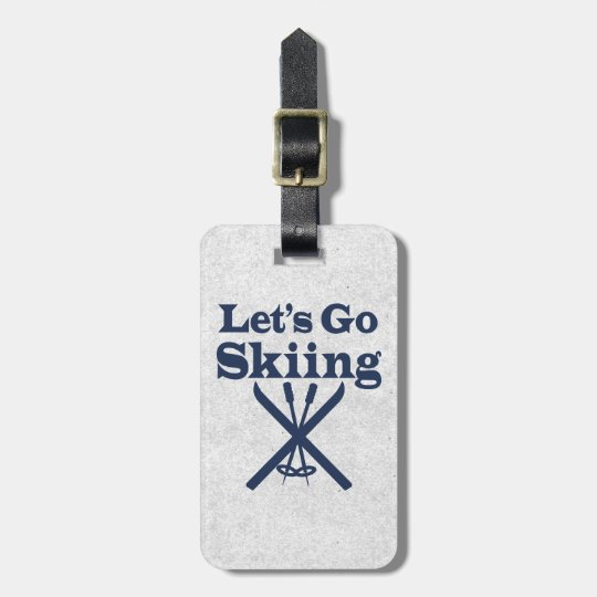 Go Skiing Luggage Tag
