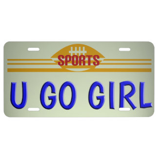 Go Sports Girl License License Plate