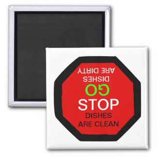 Go Stop Clean Dirty Dishwasher Magnet