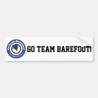 Go Team Barefoot! Bumper Sticker