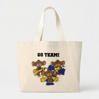 Go Team Blue and Gold T-shirts and Gifts Large Tote Bag