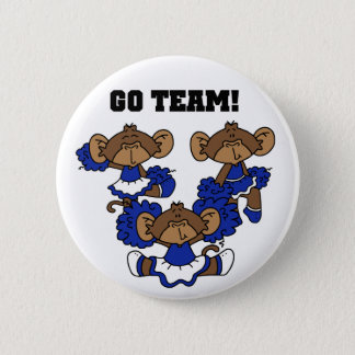 Go Team Blue and White T-shirts and Gifts 2 Inch Round Button