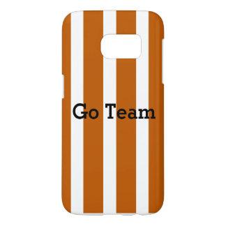Go Team - burnt orange stripe - Customize message Samsung Galaxy S7 Case