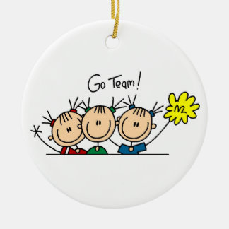 Go Team Cheerleaders T-shirts and Gifts Ceramic Ornament