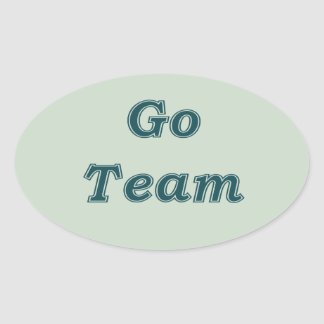 Go Team Oval Sticker
