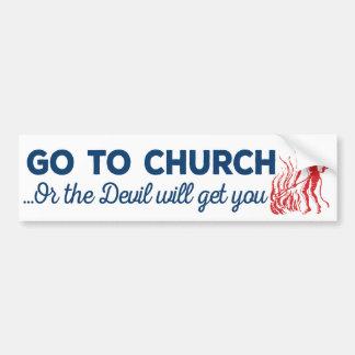 Go To Church Sticker