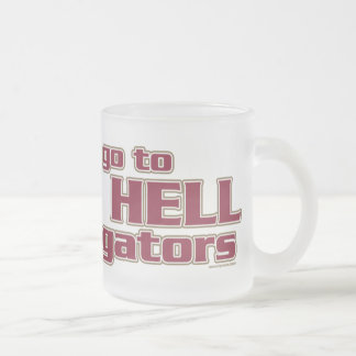 go to HELL gators Frosted Glass Beer Mug
