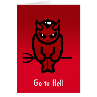 Go to Hell notecard Note Card