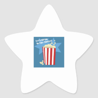Go To The Movies Star Sticker