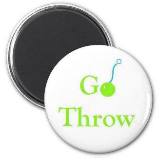 Go Trow logo 2 Inch Round Magnet