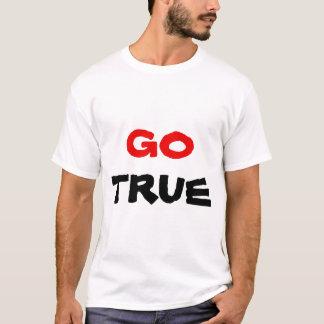 Go True Red & Black Text T-Shirt