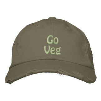 Go Veg, Save the Planet, Animal Rights Activist Embroidered Hat