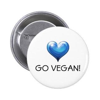 Go Vegan Pinback Button