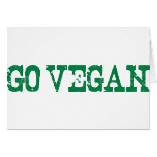 Go Vegan Greeting Card
