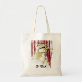 GO VEGAN Chick Barcode Tote