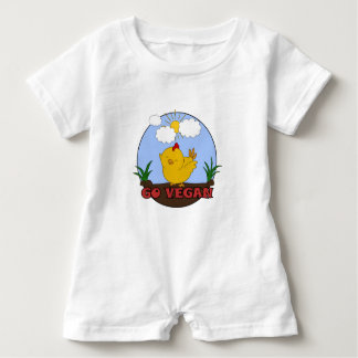 Go Vegan - Cute Chick Baby Romper