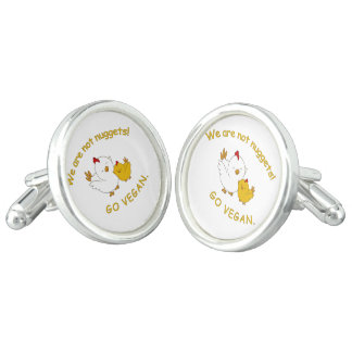 Go Vegan - Cute Chick Cufflinks