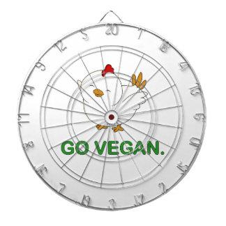 Go Vegan - Cute Chick Dartboard