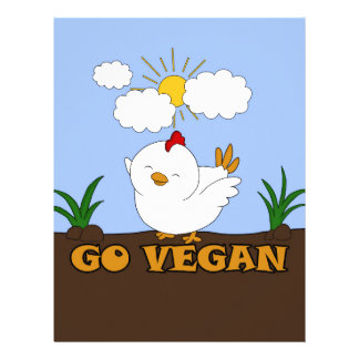 Go Vegan - Cute Chick Letterhead