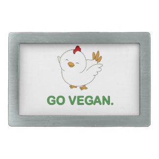 Go Vegan - Cute Chick Rectangular Belt Buckle