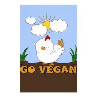 Go Vegan - Cute Chick Stationery